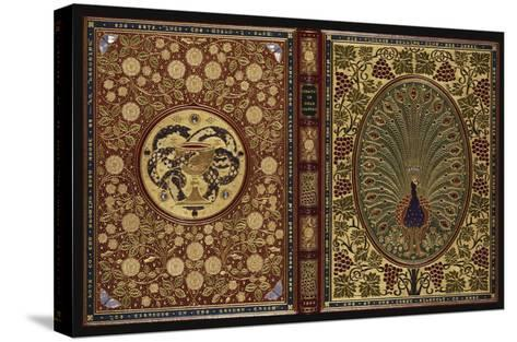 The Rubaiyat of Omar Khayyam.  a Magnificent Jewelled 'Peacock' Binding with 34 Stones and 408…--Stretched Canvas Print