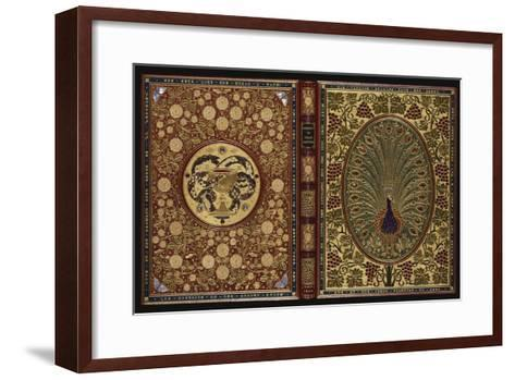 The Rubaiyat of Omar Khayyam.  a Magnificent Jewelled 'Peacock' Binding with 34 Stones and 408…--Framed Art Print