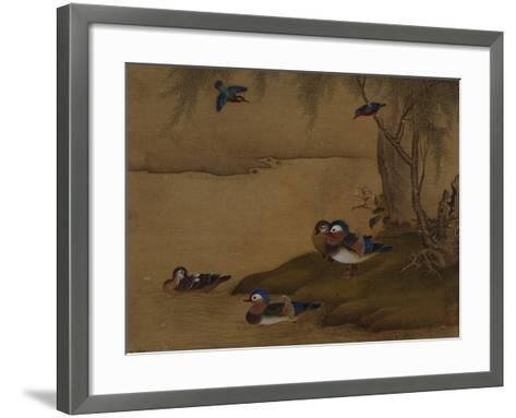 A Pair of Falcons. from an Album of Bird Paintings-Gao Qipei-Framed Art Print