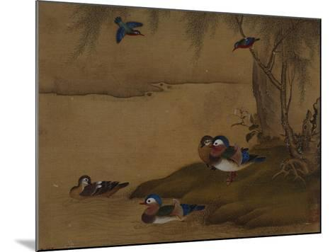 A Pair of Falcons. from an Album of Bird Paintings-Gao Qipei-Mounted Giclee Print