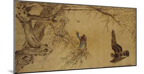 Falcon Hunting Prey-Hua Yan-Mounted Giclee Print