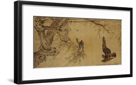 Falcon Hunting Prey-Hua Yan-Framed Art Print