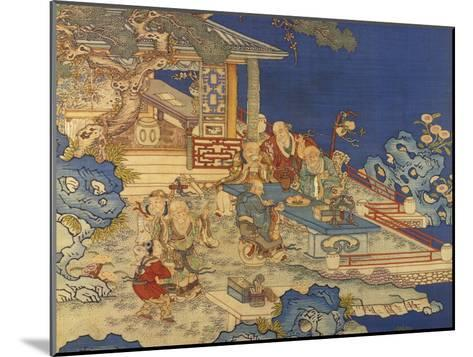 Detail from a Chinese Kesi Coloured Silk Panel Depicting Daoist Immortals--Mounted Giclee Print
