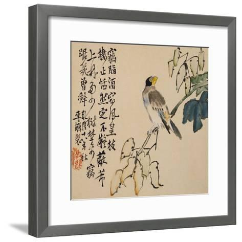 A Page (Bird) from Flowers and Bird, Vegetables and Fruit-Li Shan-Framed Art Print