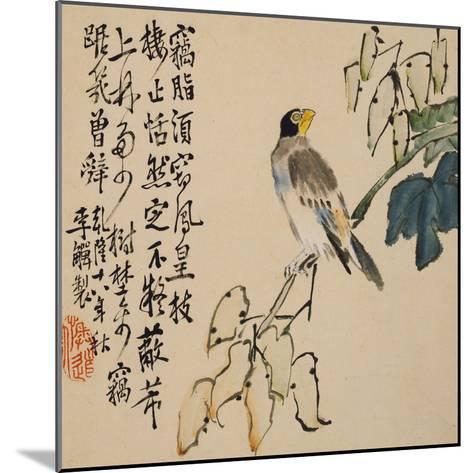 A Page (Bird) from Flowers and Bird, Vegetables and Fruit-Li Shan-Mounted Giclee Print