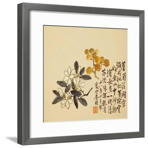 A Page (Flowers) from Flowers and Bird, Vegetables and Fruits-Li Shan-Framed Art Print