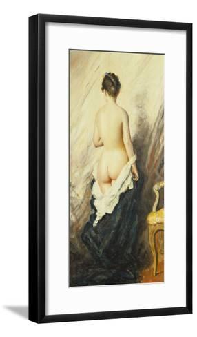 In the Boudoir-Charles Chaplin-Framed Art Print