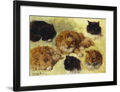 Studies of Cats-Henriette Ronner-Knip-Framed Art Print