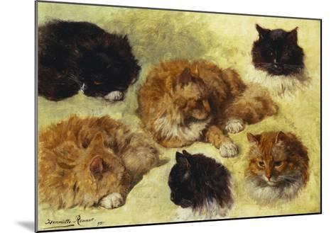 Studies of Cats-Henriette Ronner-Knip-Mounted Giclee Print