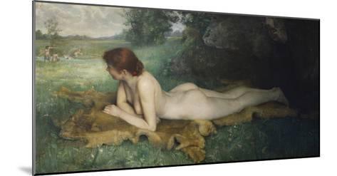 Reclining Nude; Nu Allongee-Emil Gustav Adolf Glockner-Mounted Giclee Print