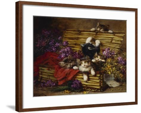 Kittens at Play-Leon Charles Huber-Framed Art Print