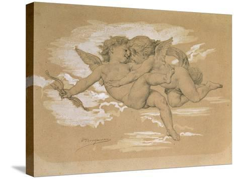 A Putto Trying to Steal Cupid's Arrows-William Adolphe Bouguereau-Stretched Canvas Print