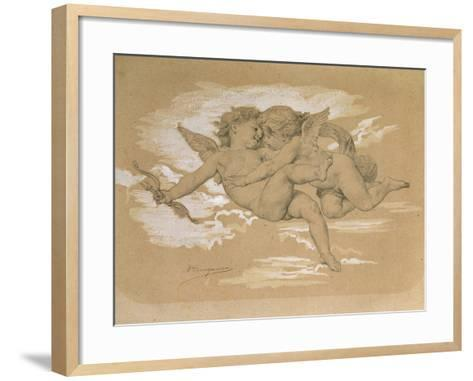 A Putto Trying to Steal Cupid's Arrows-William Adolphe Bouguereau-Framed Art Print
