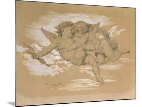 A Putto Trying to Steal Cupid's Arrows-William Adolphe Bouguereau-Mounted Giclee Print