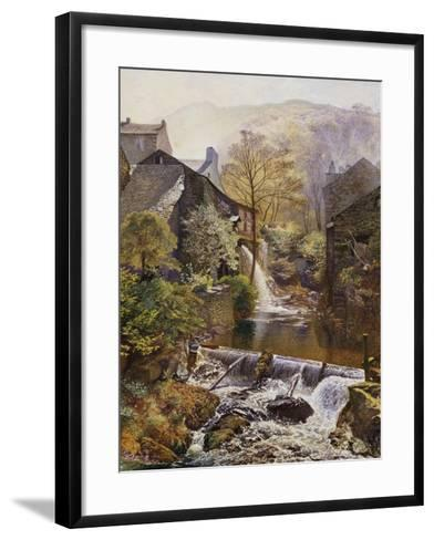 The Old Water-Mill-James Duffield Harding-Framed Art Print