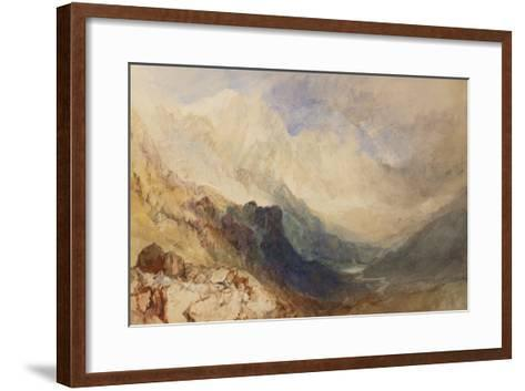 A Scene in the Val D'Aosta-J^ M^ W^ Turner-Framed Art Print