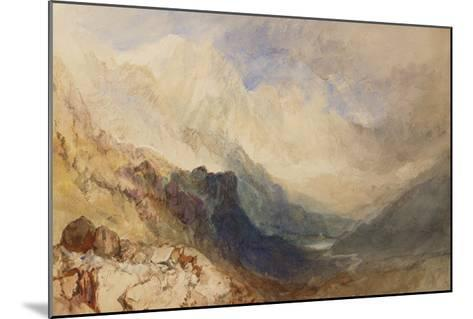 A Scene in the Val D'Aosta-J^ M^ W^ Turner-Mounted Giclee Print