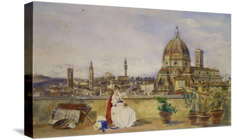 A Terrace Overlooking Florence from the Via Di Servi-Thomas Hartley Cromek-Stretched Canvas Print