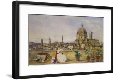 A Terrace Overlooking Florence from the Via Di Servi-Thomas Hartley Cromek-Framed Art Print
