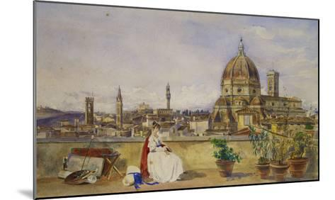 A Terrace Overlooking Florence from the Via Di Servi-Thomas Hartley Cromek-Mounted Giclee Print