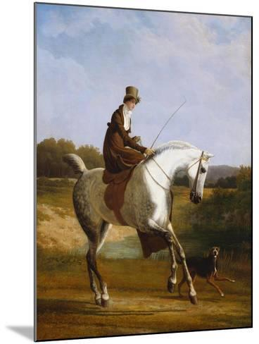 Miss Cazenove on a Grey Hunter, a Dog Running Alongside-Jacques-Laurent Agasse-Mounted Giclee Print