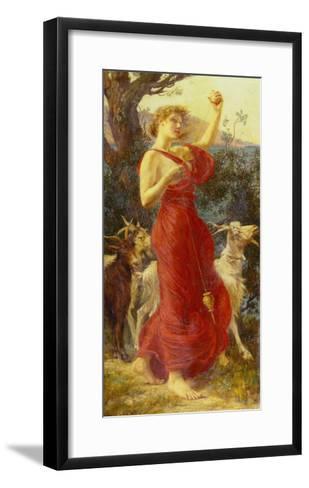The Goat Girl-Edith Ridley Corbet-Framed Art Print