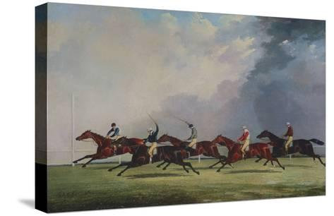The Finish for the Ascot Cup, 1842-John Dalby of York-Stretched Canvas Print