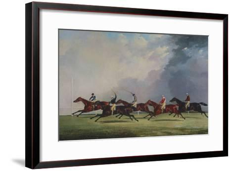 The Finish for the Ascot Cup, 1842-John Dalby of York-Framed Art Print