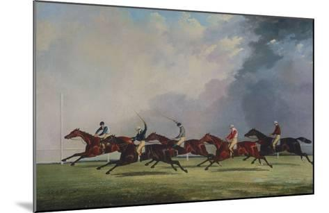The Finish for the Ascot Cup, 1842-John Dalby of York-Mounted Giclee Print
