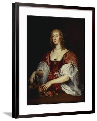 Portrait of a Lady, Traditionally as the Countess of Carnarvon-Anthony Van Dyck (Circle of)-Framed Art Print