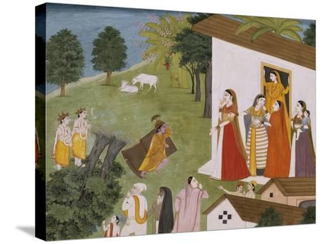 Illustration to the Bhagvata Purana--Stretched Canvas Print