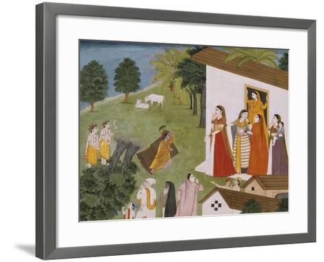 Illustration to the Bhagvata Purana--Framed Art Print