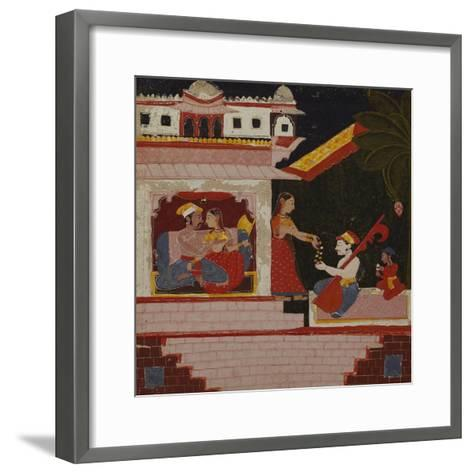 Pancham Ragini - a Handmaiden of an Enamoured Couple Rewards a Musician--Framed Art Print
