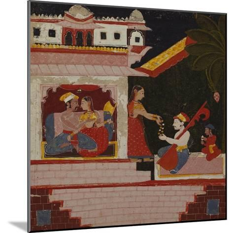 Pancham Ragini - a Handmaiden of an Enamoured Couple Rewards a Musician--Mounted Giclee Print