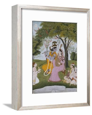 Krishna and Radha Making Music--Framed Art Print
