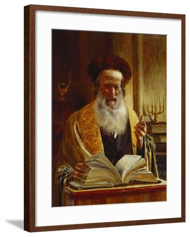Rabbi Delivering a Sermon-Joseph Jost-Framed Art Print