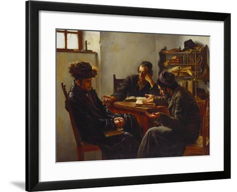 Rabbi's Looking for an Answer-Karl Zwey-Framed Art Print