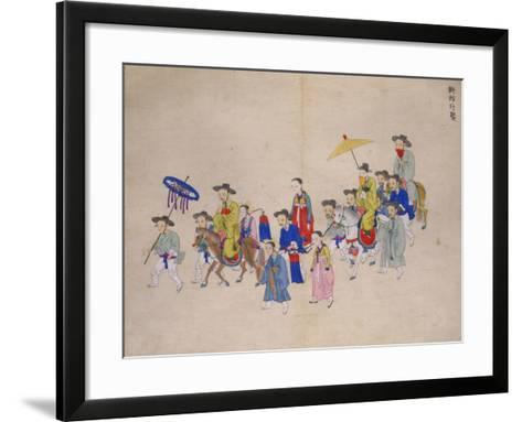 Wedding Procession with Groom-Kim Junkeun-Framed Art Print