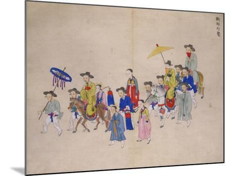 Wedding Procession with Groom-Kim Junkeun-Mounted Giclee Print