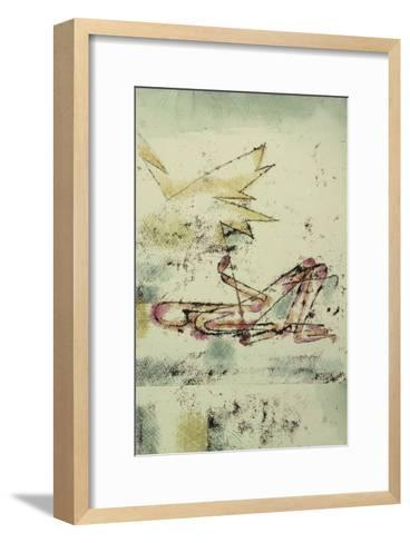Struck by Lightning; Blitzschlag-Paul Klee-Framed Art Print