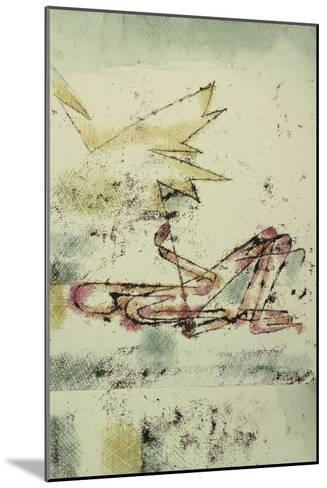 Struck by Lightning; Blitzschlag-Paul Klee-Mounted Giclee Print