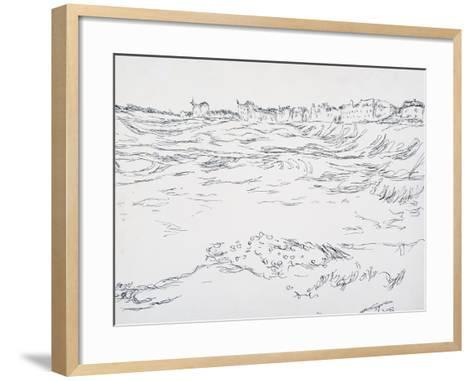 Munich Bay, the Military Dugouts, Against a Backdrop of the First Houses in Milbertshofen; Bei?-Paul Klee-Framed Art Print