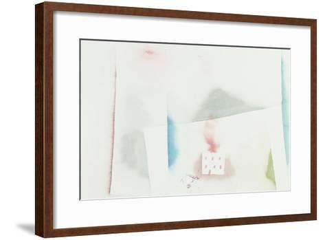 The Abandoned House; Brennendes Haus-Paul Klee-Framed Art Print