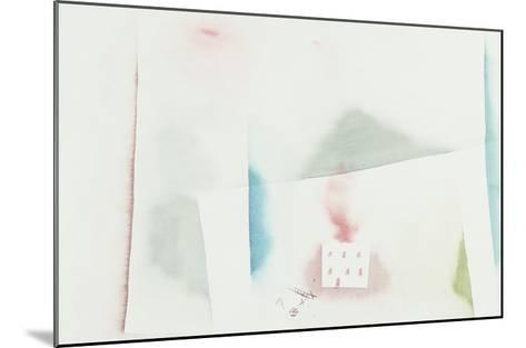 The Abandoned House; Brennendes Haus-Paul Klee-Mounted Giclee Print