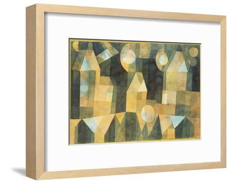 Three Houses and a Bridge; Drei Hauser an Der Brucke-Paul Klee-Framed Art Print