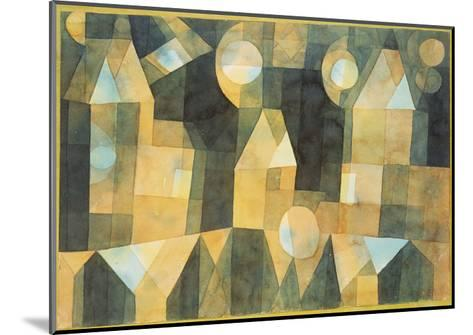 Three Houses and a Bridge; Drei Hauser an Der Brucke-Paul Klee-Mounted Giclee Print