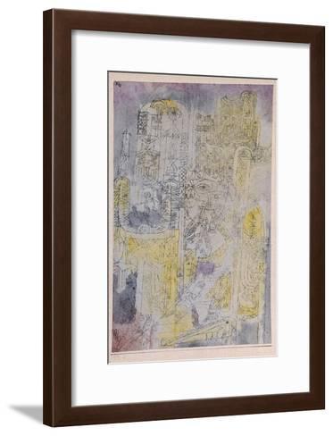 Gothic Rococo; Gotisches Rococo-Paul Klee-Framed Art Print