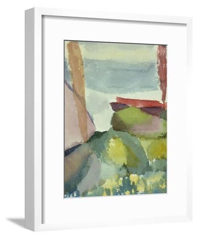 The Seaside in the Rain; See Ufer Bei Regen-Paul Klee-Framed Art Print