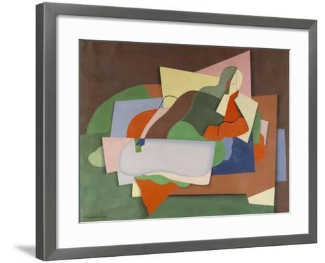 Reclining Nude; Nu Allonge-Georges Valmier-Framed Art Print