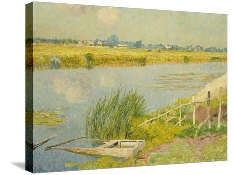 The Lily Banks; Bords De La Lys-Emile Claus-Stretched Canvas Print